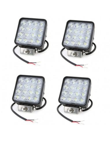 4X 48W LED LUCE FARO LAMPADA DA...