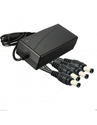 ALIMENTATORE 12V 5 Amp CON 4 USCITE...