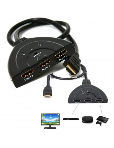 CAVO SWITCH HDMI 1080p 3 PORTE FULL...