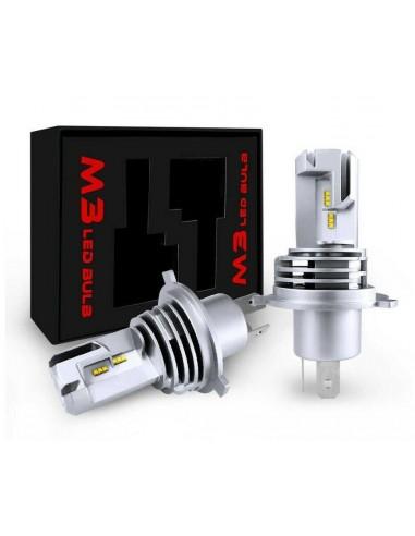 Coppia lampade LED fari auto H4 55W...
