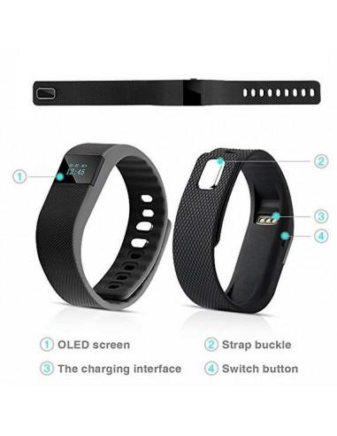 Braccialetto smartwatch fitness...