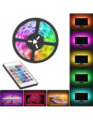 Kit TV striscia strip LED RGB 5050...